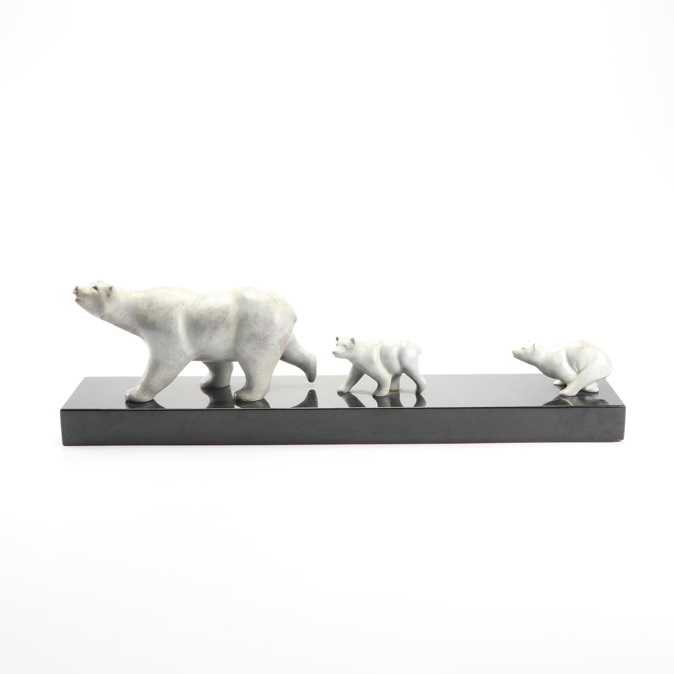 "Robert Deurloo ""Barely Keeping Up"" Bronze Sculpture on Granite Base"
