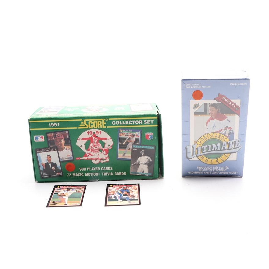 1991 Score Baseball Cards And Smokeys Cartes De Sport Ultimate Hockey Cards