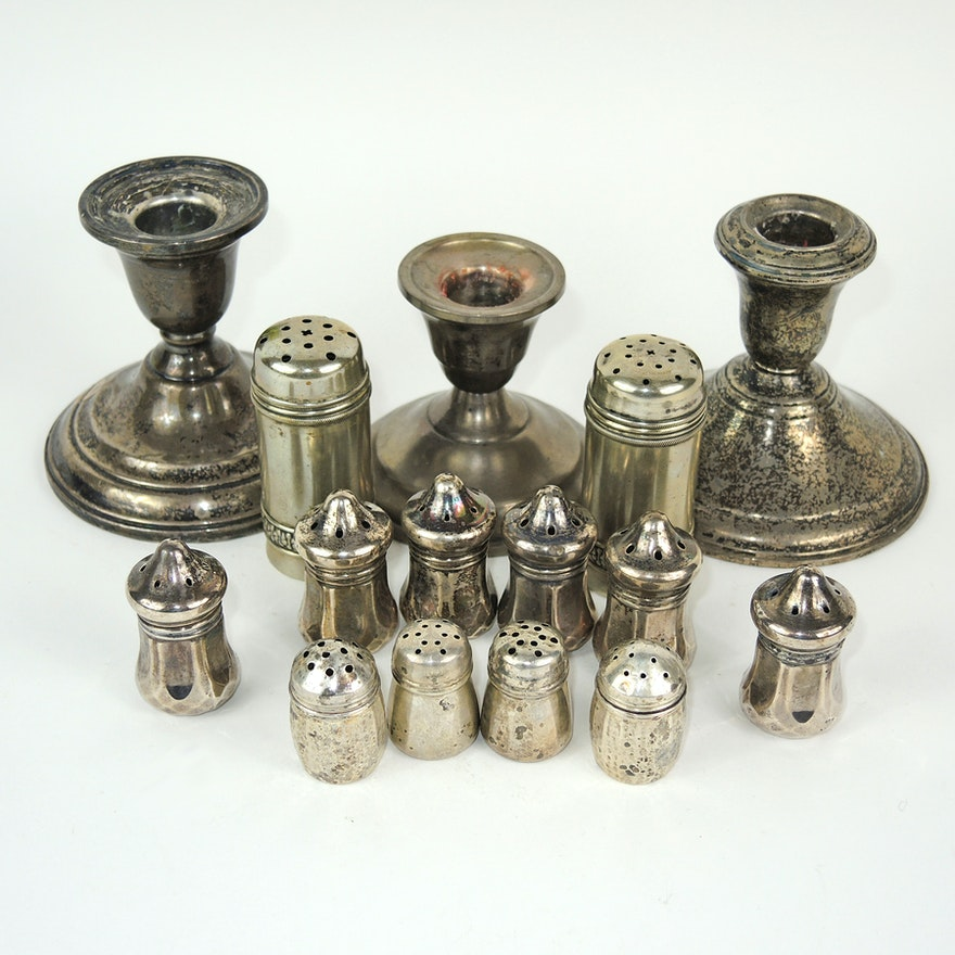 Silver Shakers and Candlesticks