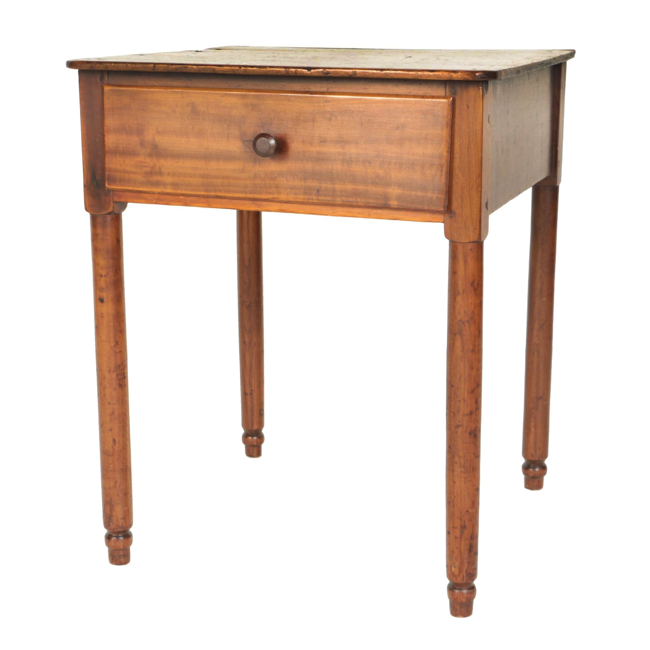 American Pine and Cherrywood Side Table, Second Quarter 19th Century