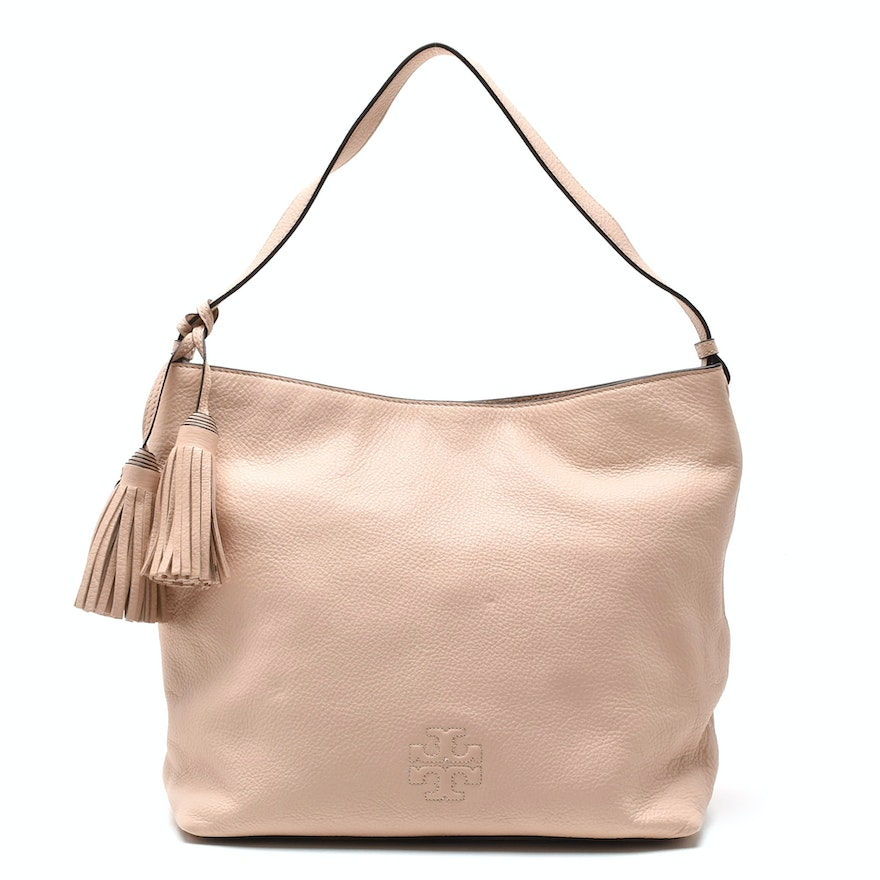 a315b5ec62b1 Tory Burch Thea Pink Leather Hobo Bag with Matching Wallet   EBTH