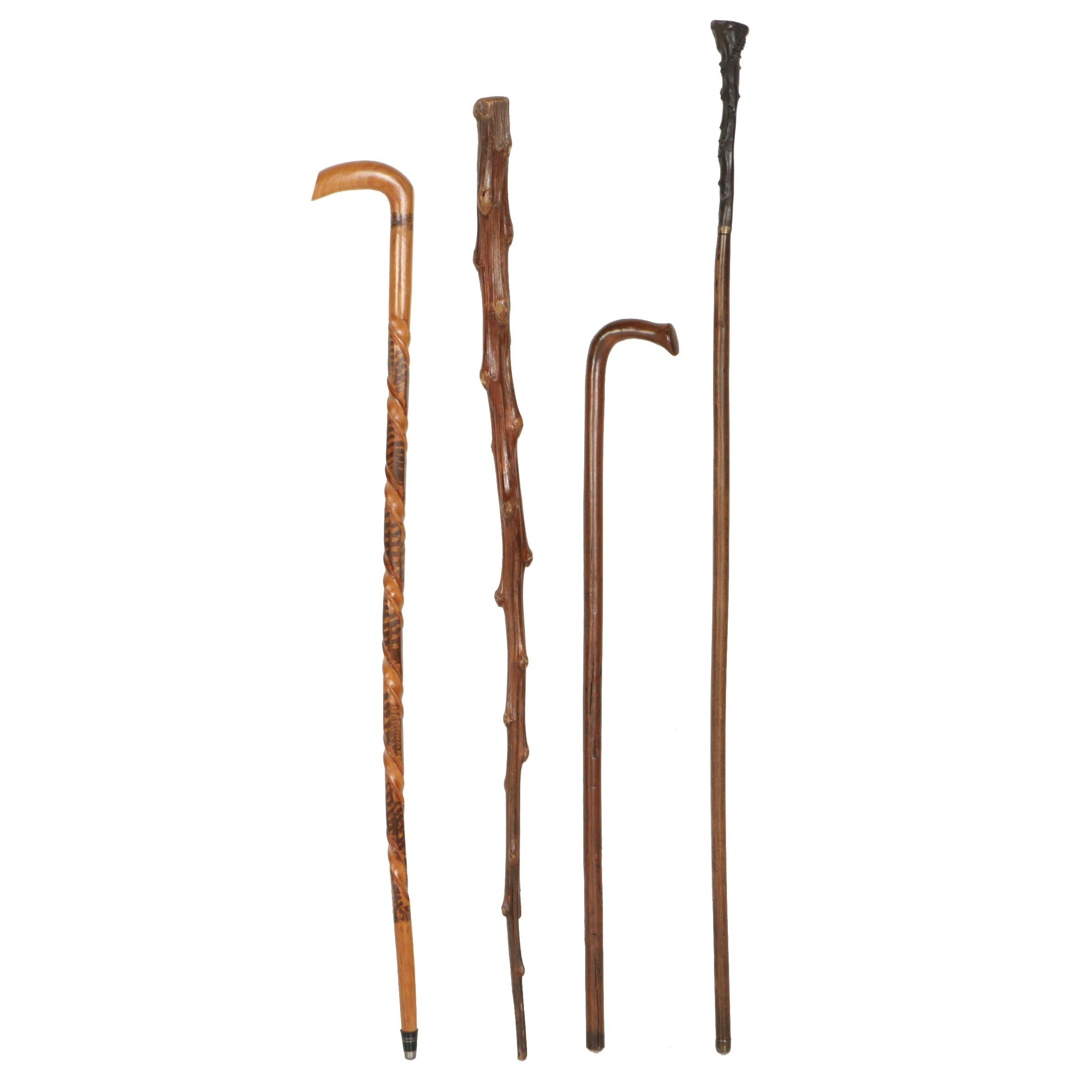 Four Vintage Walking Sticks