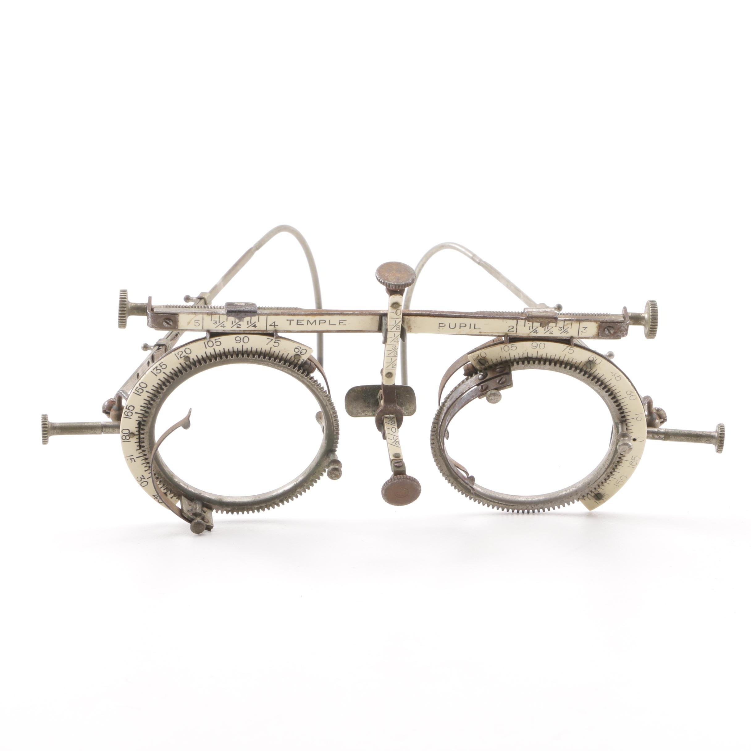 Early 20th Century Optician Test Lens Frame