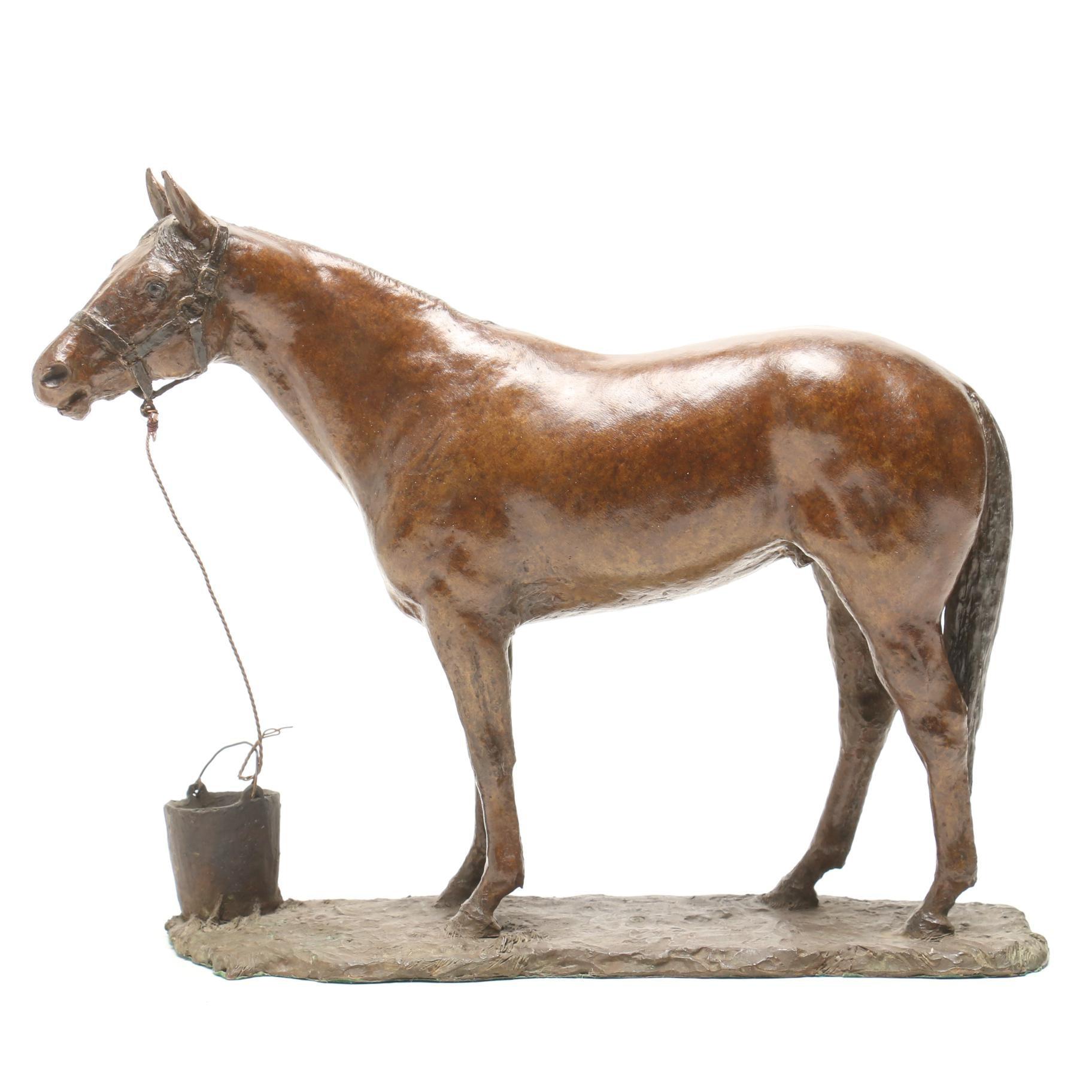 Bronze Sculpture of a Horse by June Hanah