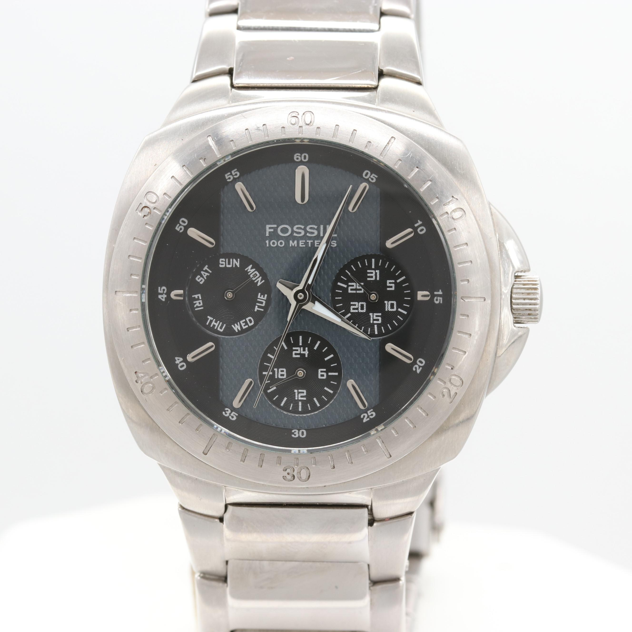 Fossil Blue Stainless Steel Model BQ9237 Wristwatch