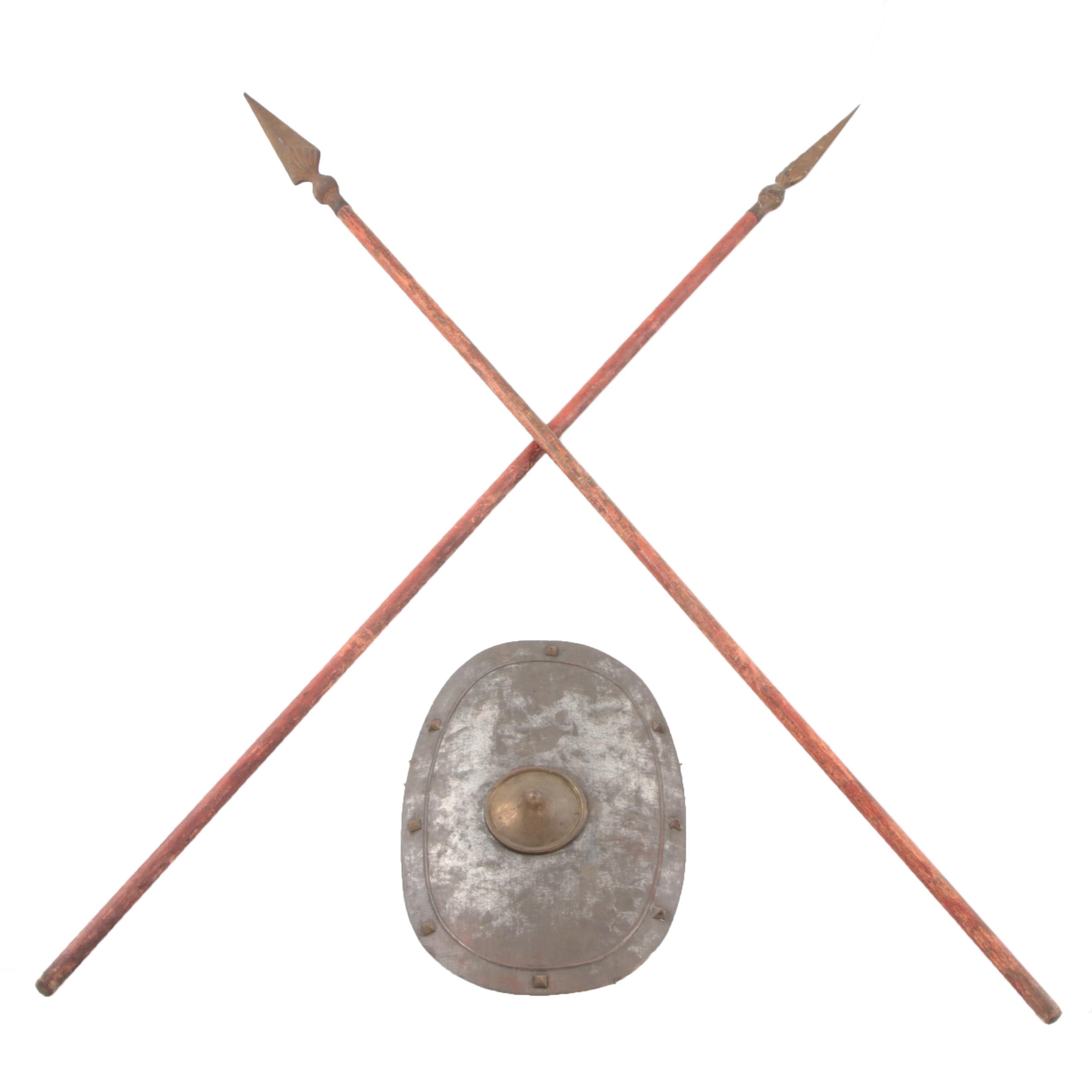 Vintage Replica Spears And Shield