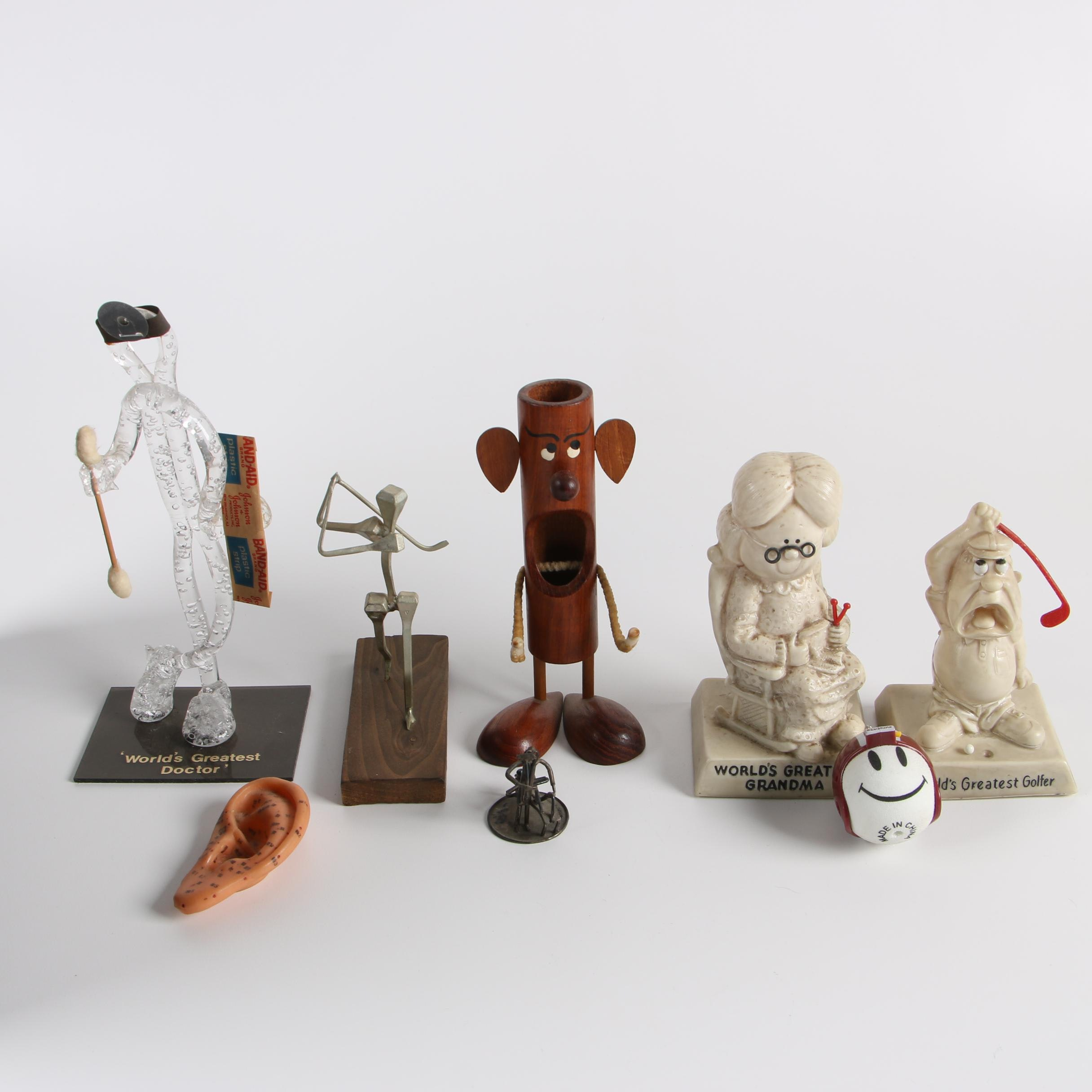 Israeli Sterling Sculpture with R & W Berries Figurines and More
