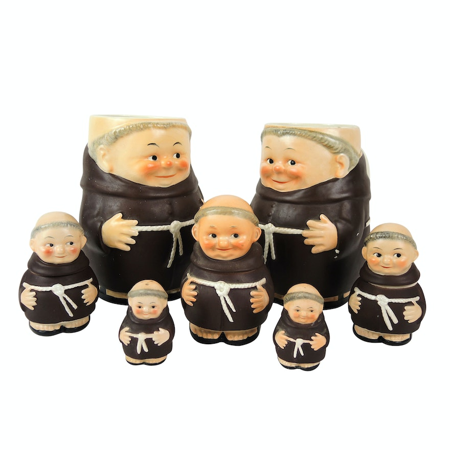 """Goebel """"Friar Tuck"""" Shakers, Containers and Mugs"""