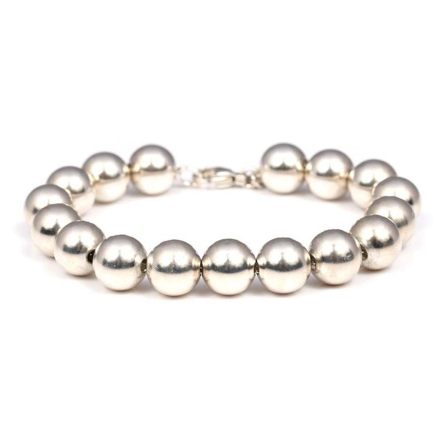 a75b1516b Tiffany & Co. Sterling Silver Bead Bracelet : EBTH