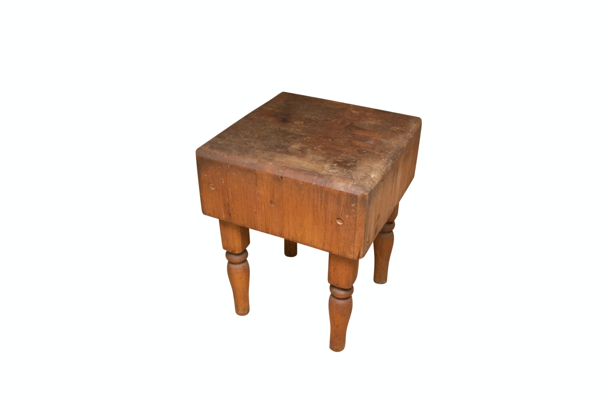Maple Butchers Block Table, Early to Mid- 20th Century