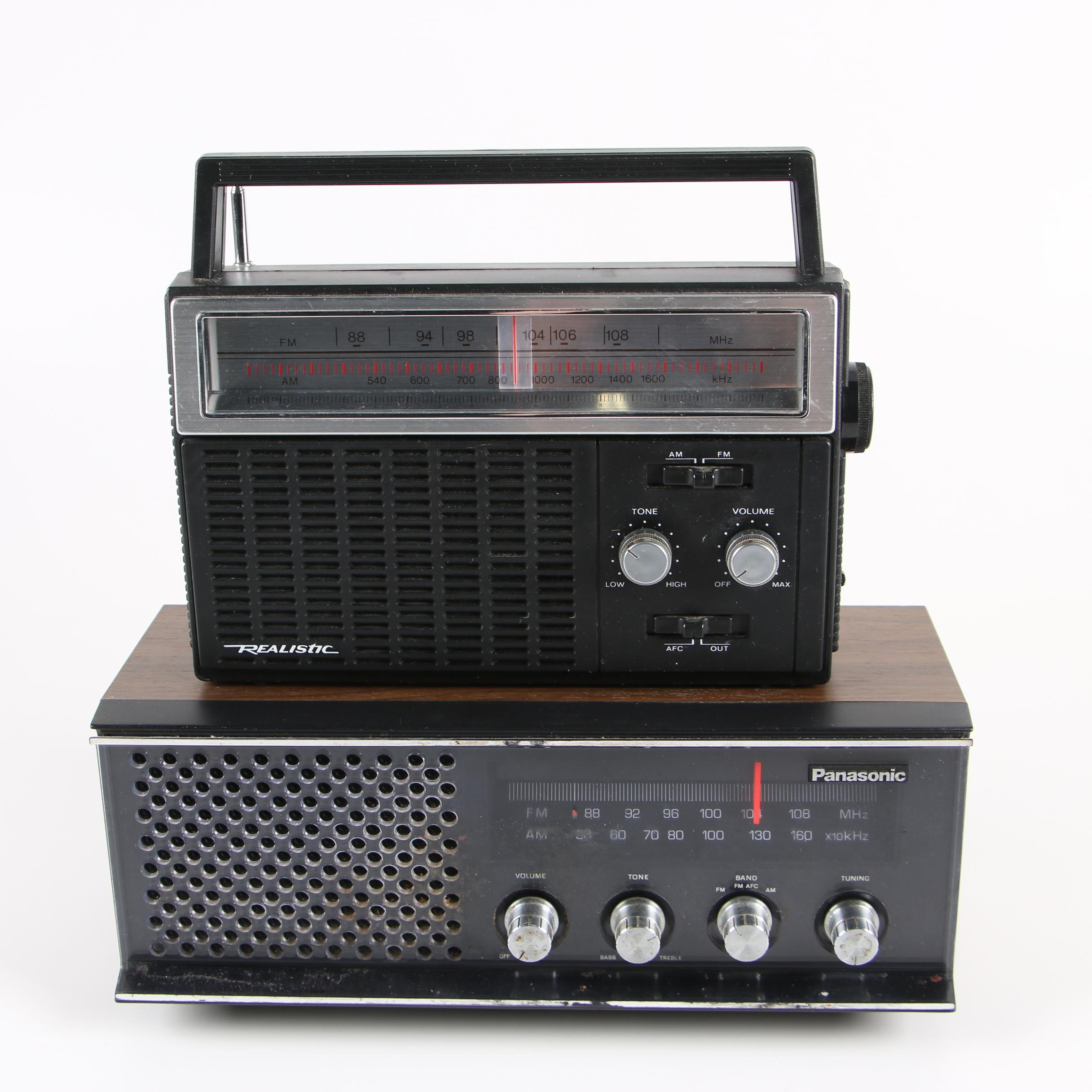 Realistic and Panasonic Radios, c. 1970s