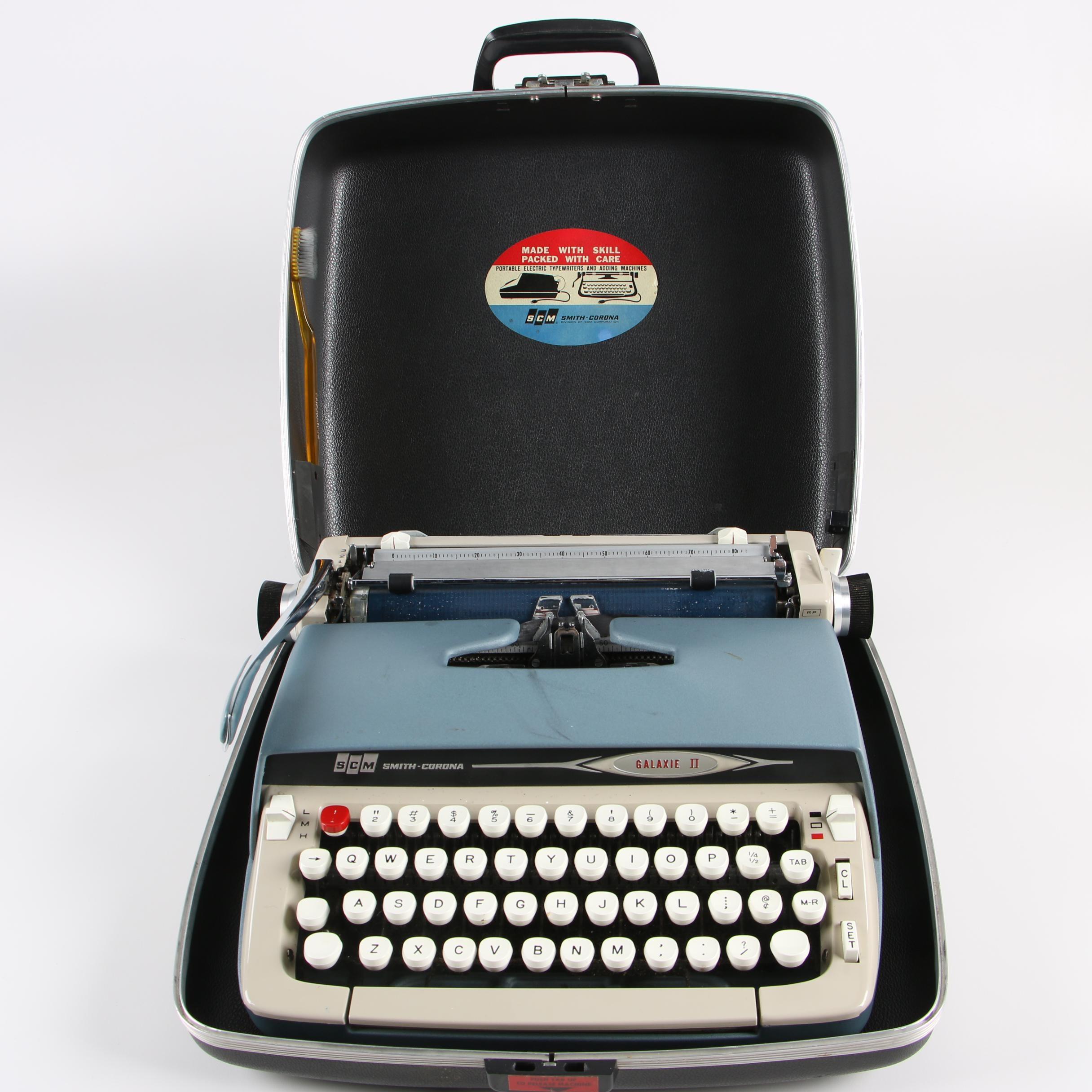 1966 Smith-Corona Galaxie II Manual Portable Typewriter