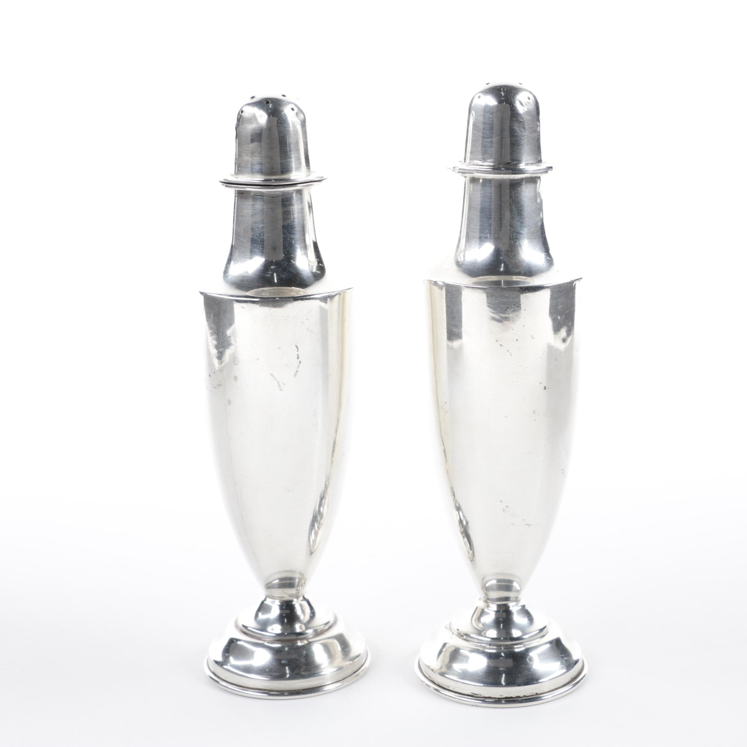 Gonzalo Moreno Mexican Sterling Silver Salt and Pepper Shaker Set, Mid-Century