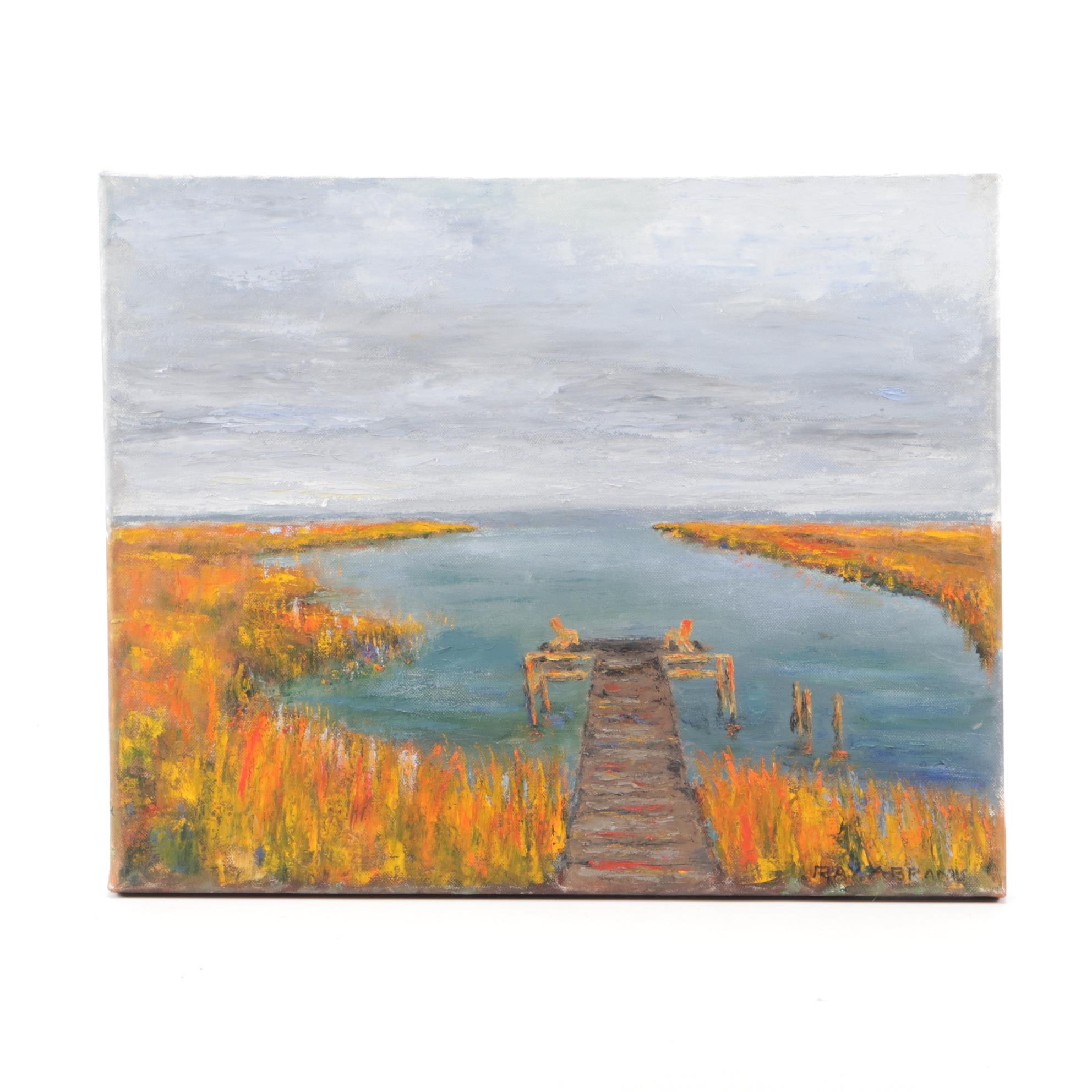 Ray Abrams Oil Painting of a Lake