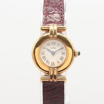 514e60cd48a7 Must de Cartier Gold Over Sterling Silver Vermeil Wristwatch