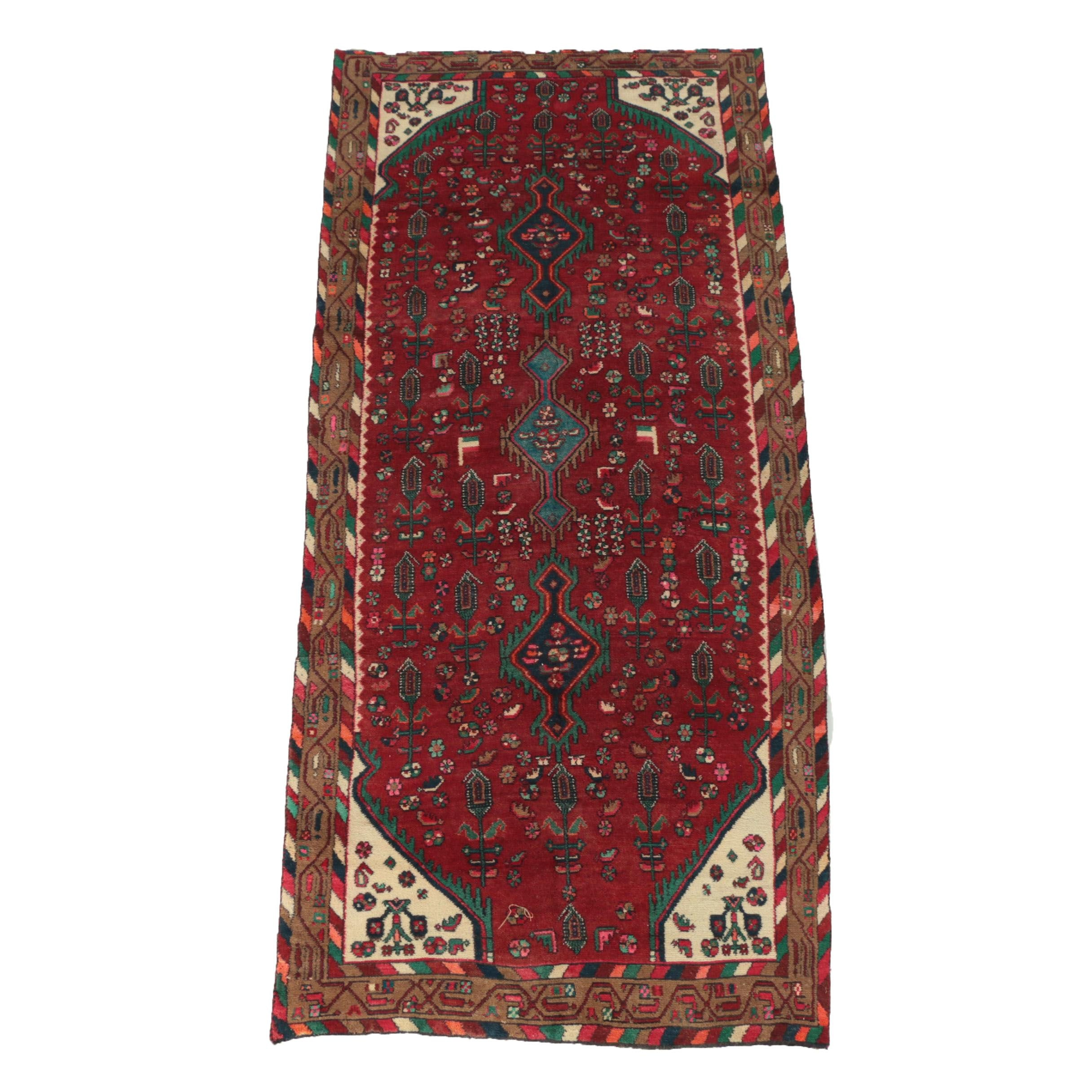 Hand-Knotted Persian Village Wool Long Rug