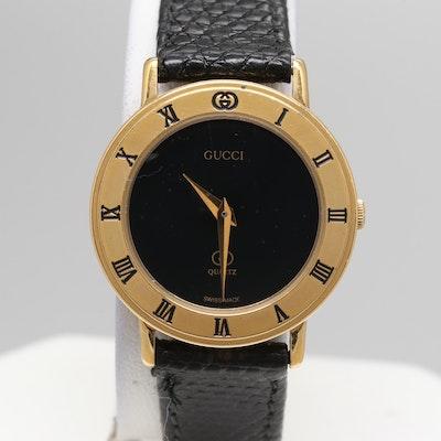 2589cf658237 Gucci Gold Plated Model 3000-L Quartz Wristwatch