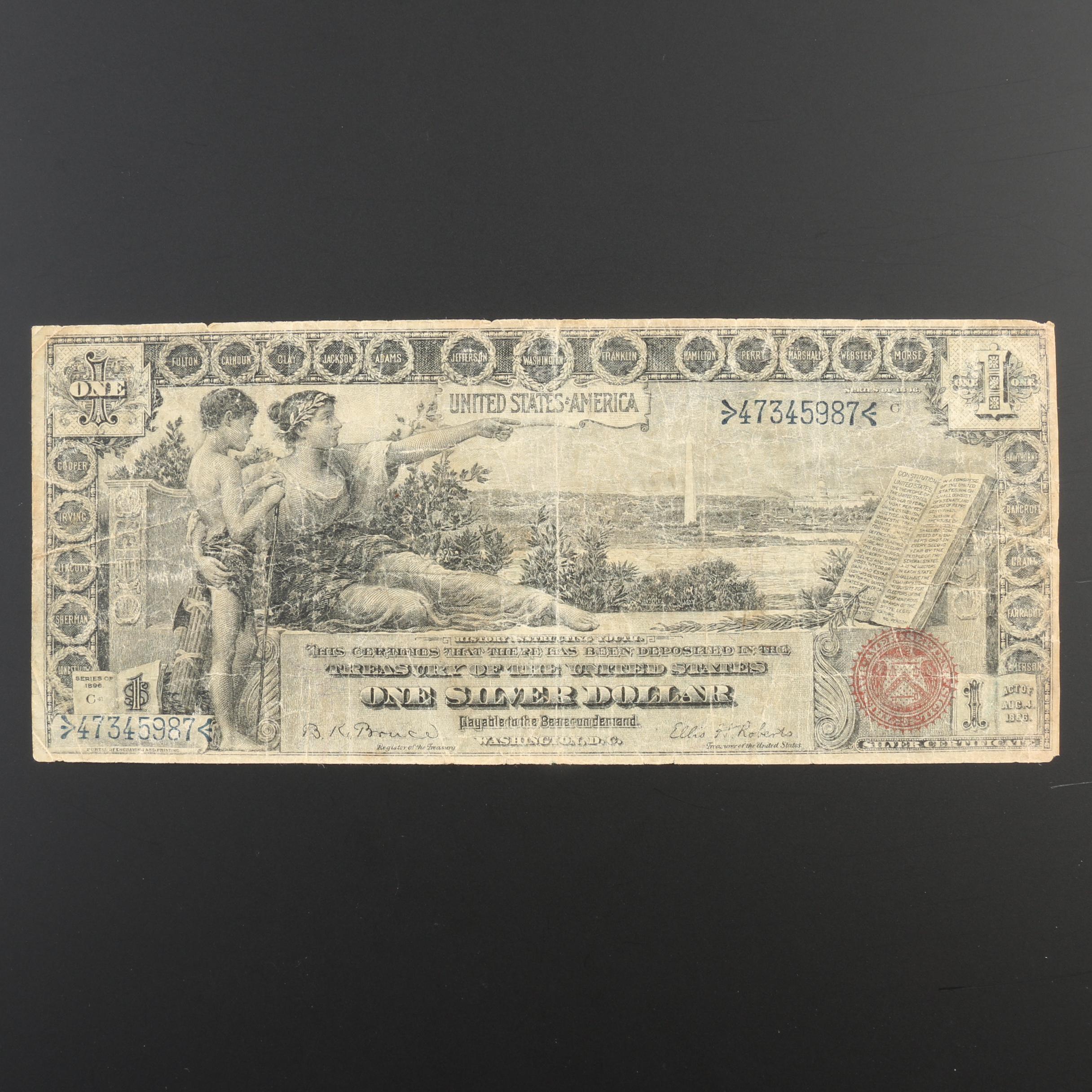 Series 1896 $1 Silver Certificate