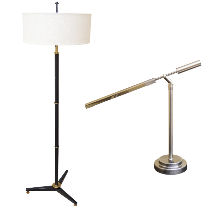 Contemporary Desk and Floor Lamps