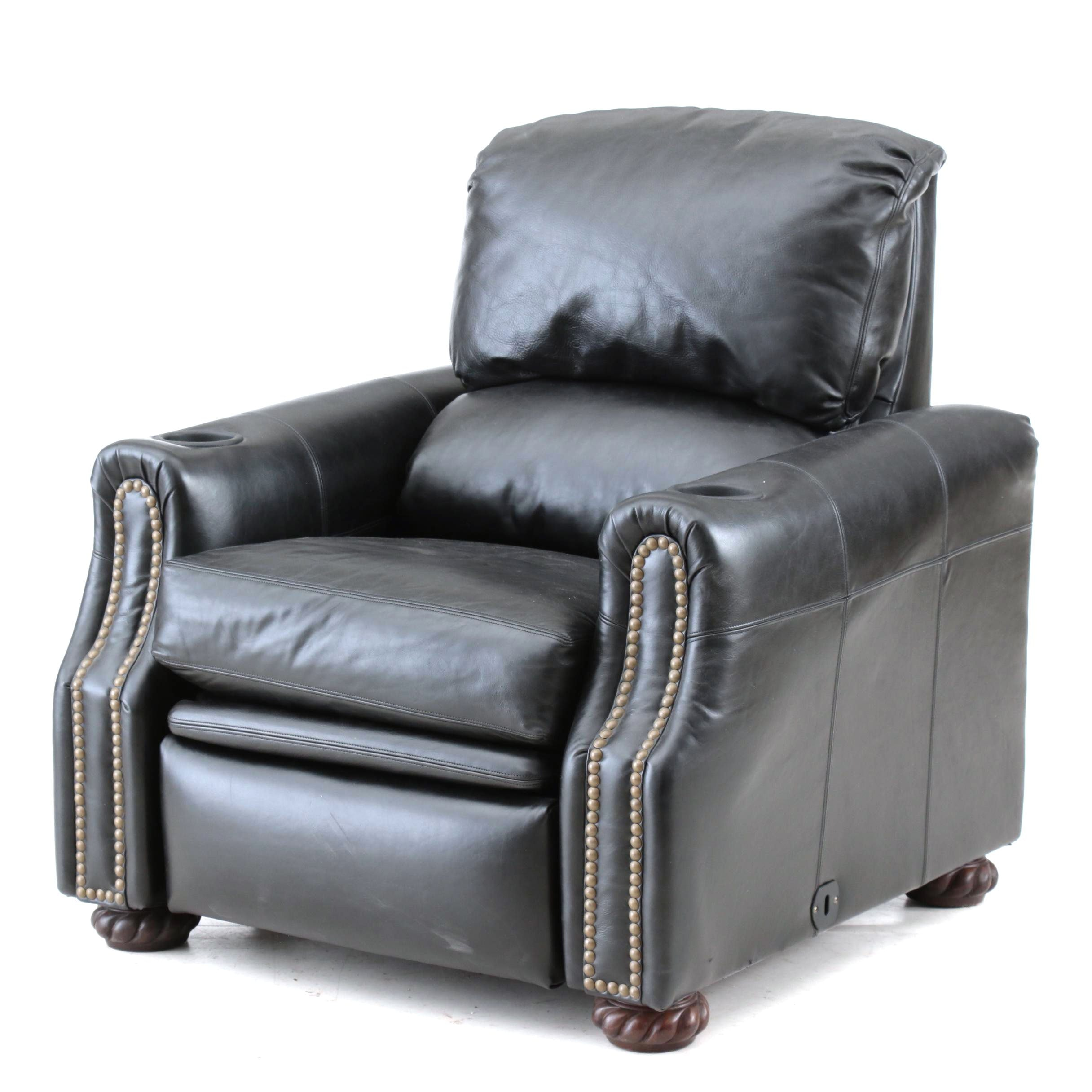 Drexel Heritage Black Leather Recliner
