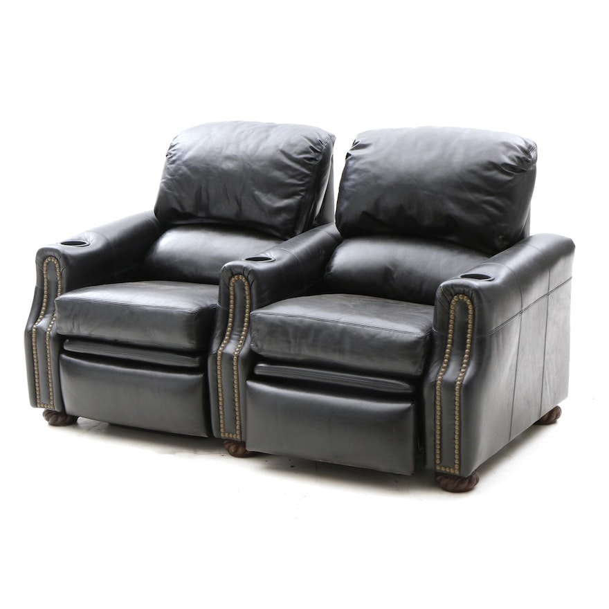 Super Drexel Heritage Black Leather Recliner Loveseat Machost Co Dining Chair Design Ideas Machostcouk