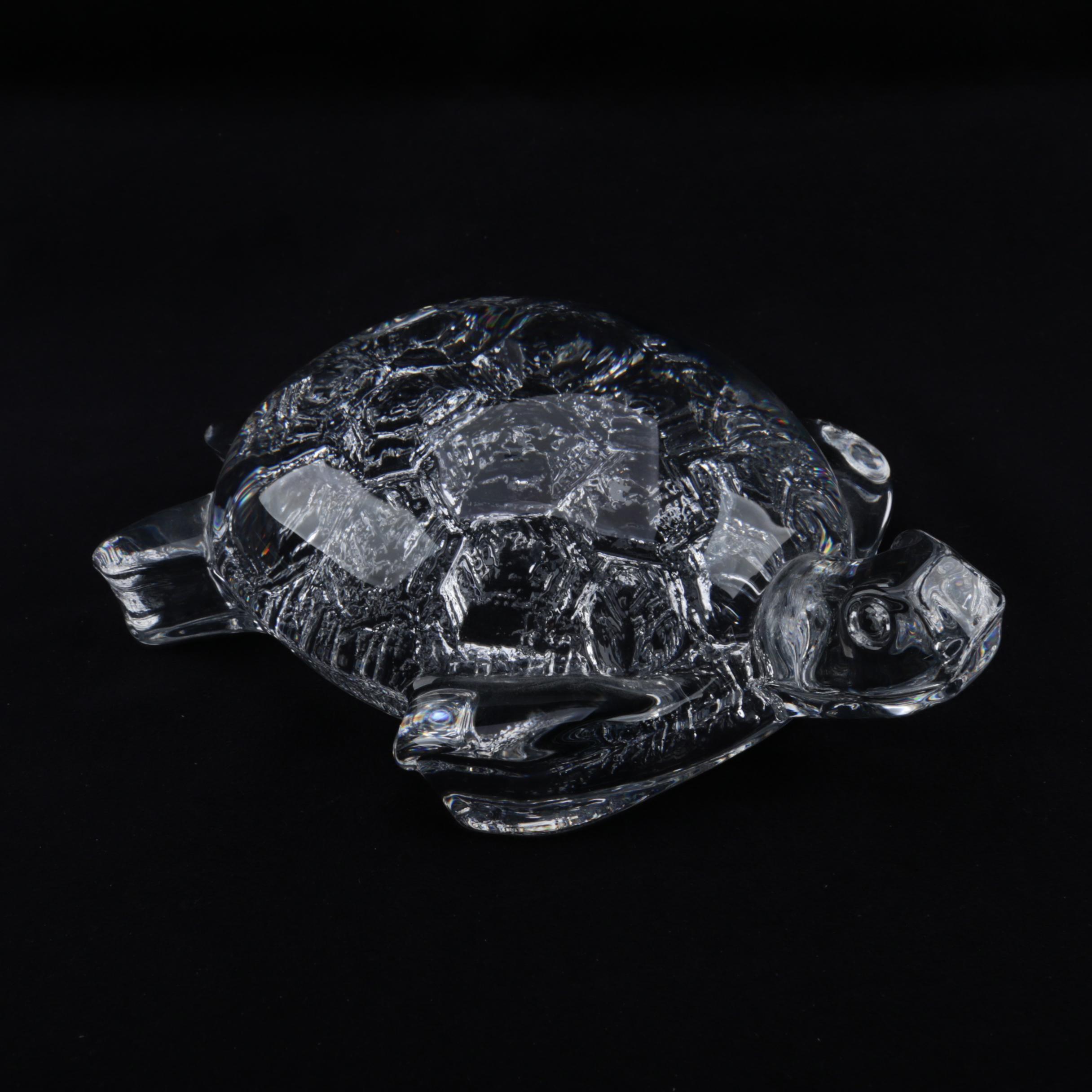 Crystal Turtle Figurine
