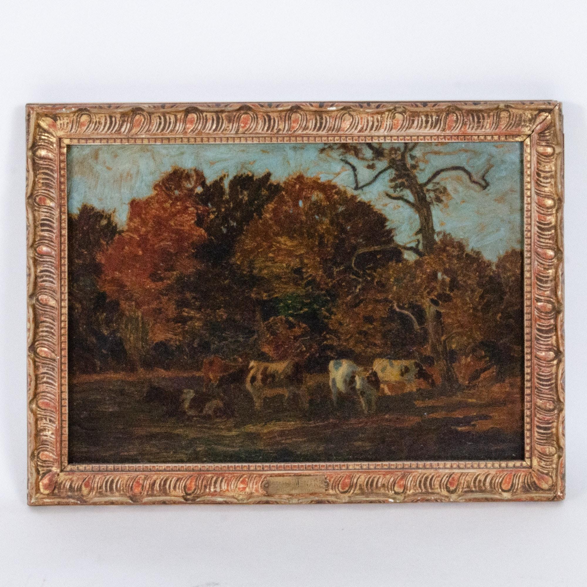 """Émile-René Ménard Oil Painting """"Bueolique"""""""