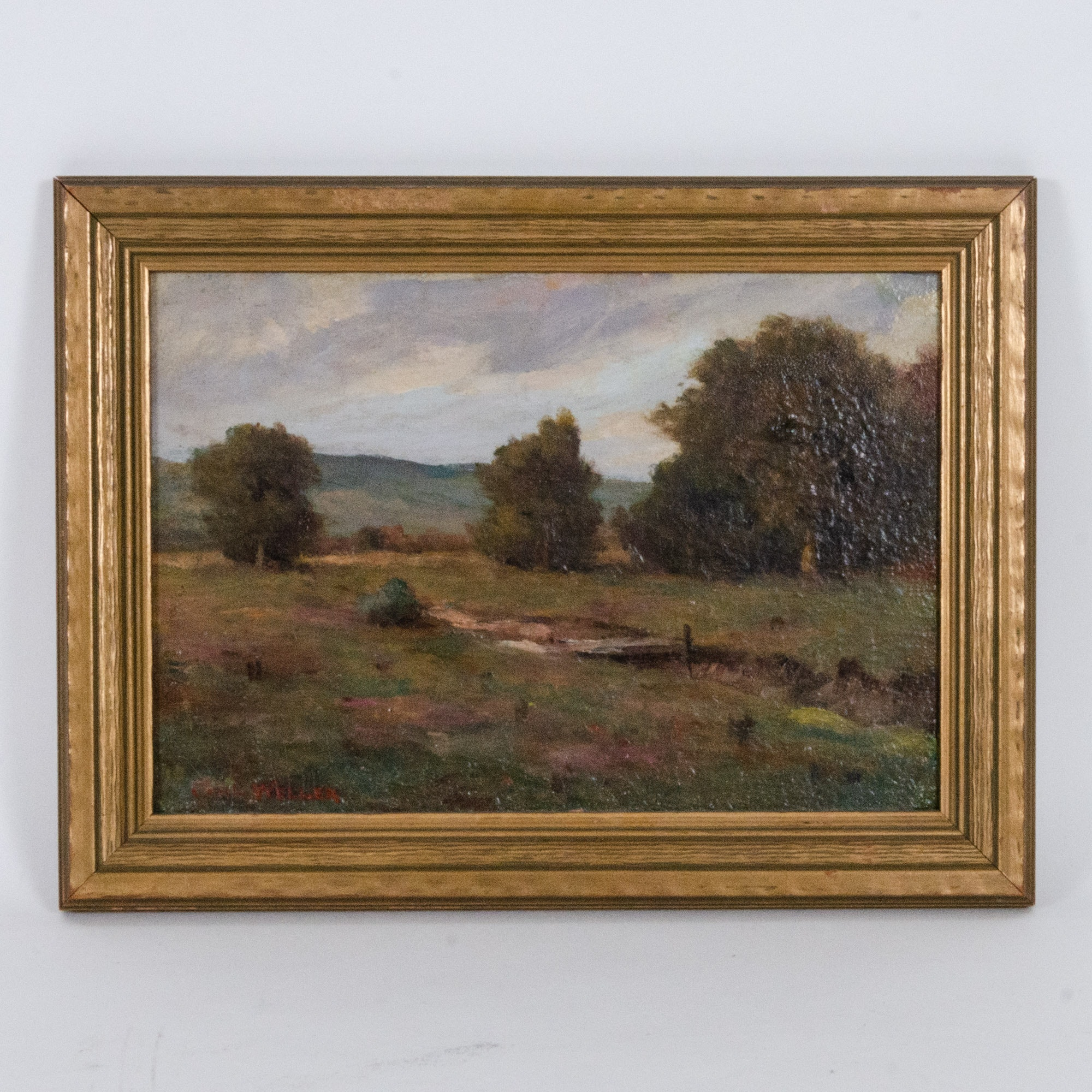 Carl Weller Landscape Oil Painting