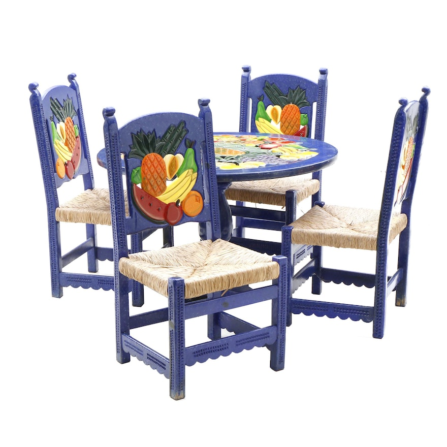 Mexican Folk Art Table And Chairs