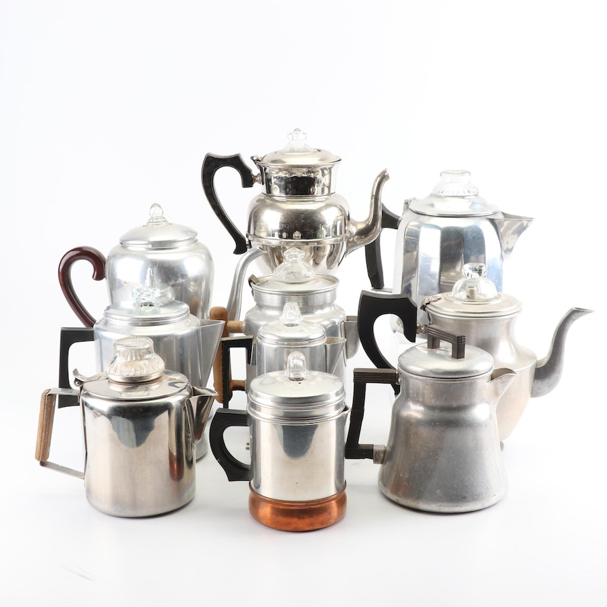 Vintage Coffee Pots And Percolators Featuring Empire Wagner