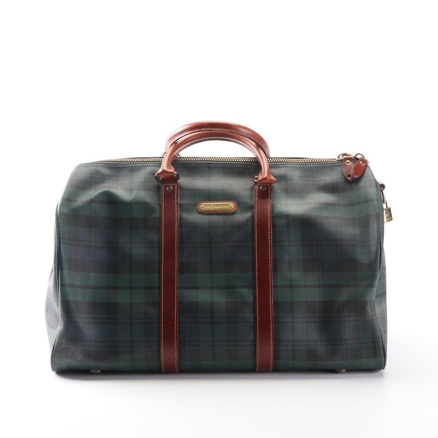 5d6459d1aa6d Polo Ralph Lauren Plaid Coated Canvas Carry-On Bag   EBTH