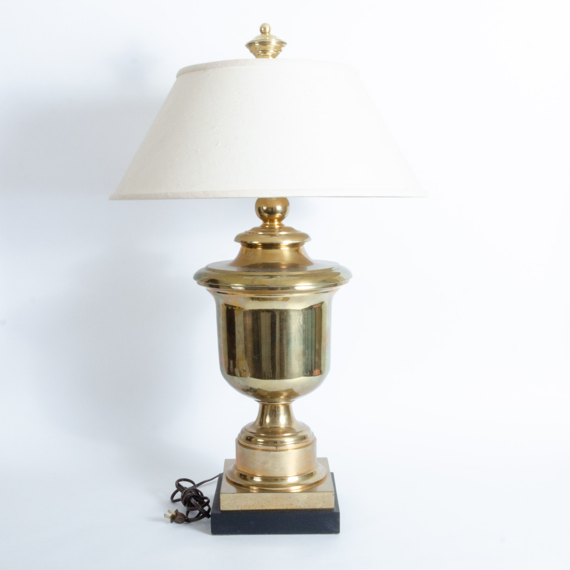 Vintage Brass Urn Table Lamp Attributed to Chapman