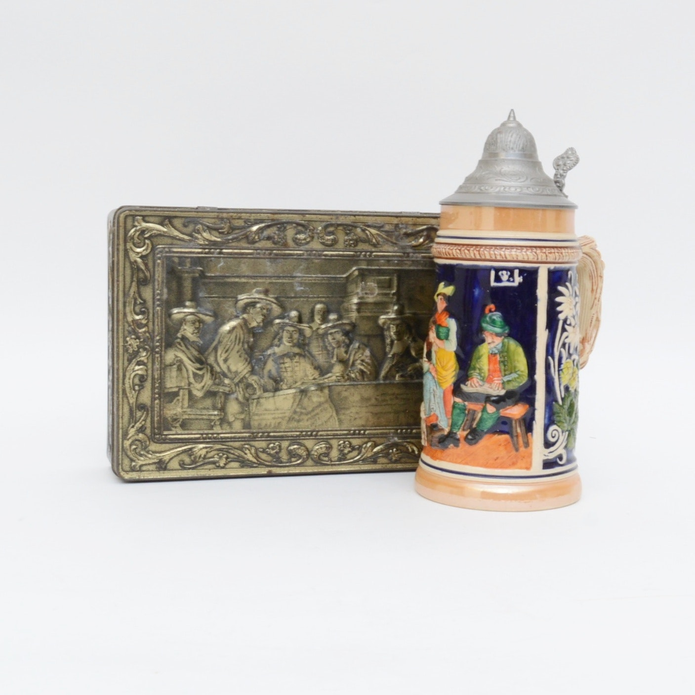 German Tankard and Holland Cigar Box