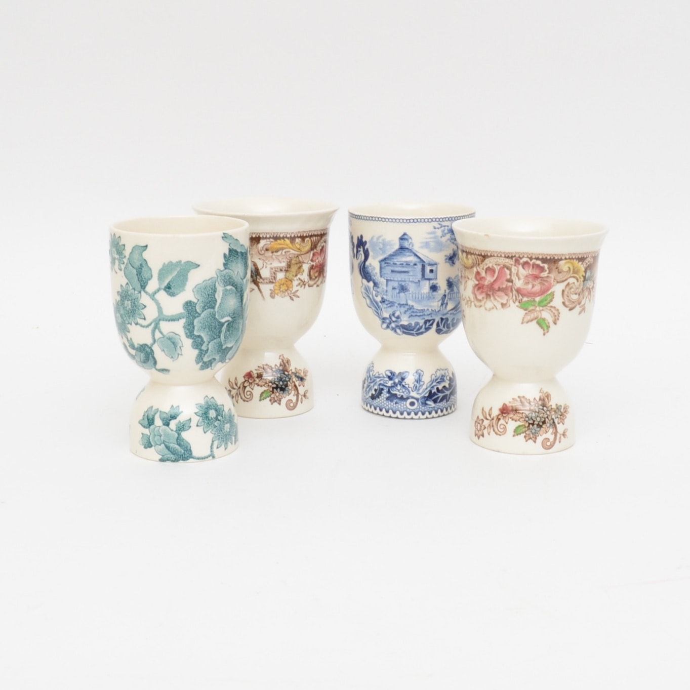 Set of Four English Egg Cups