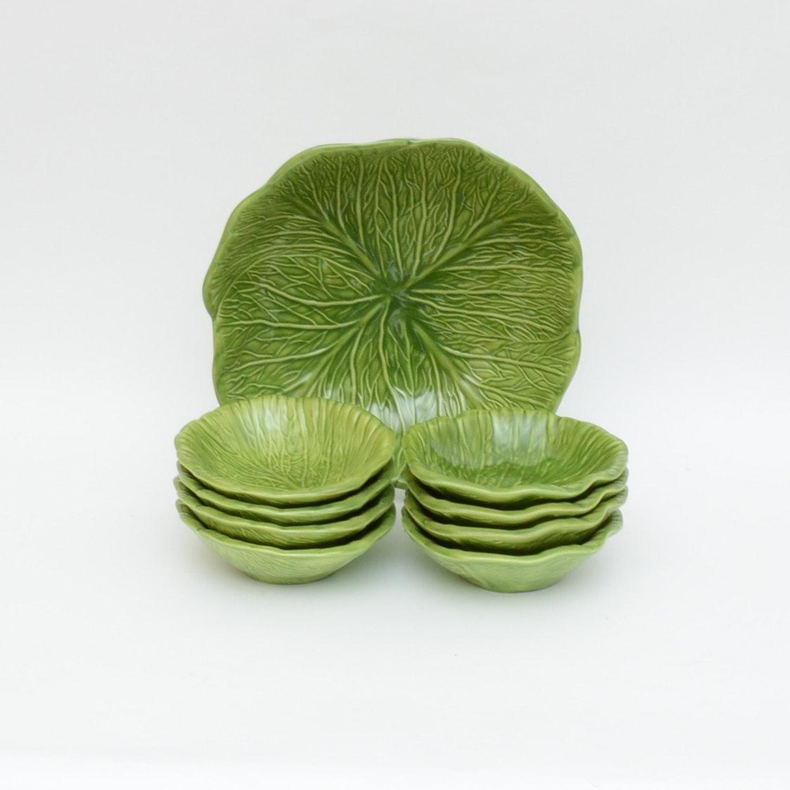 Cabbage Salad Bowl and Serving Bowls