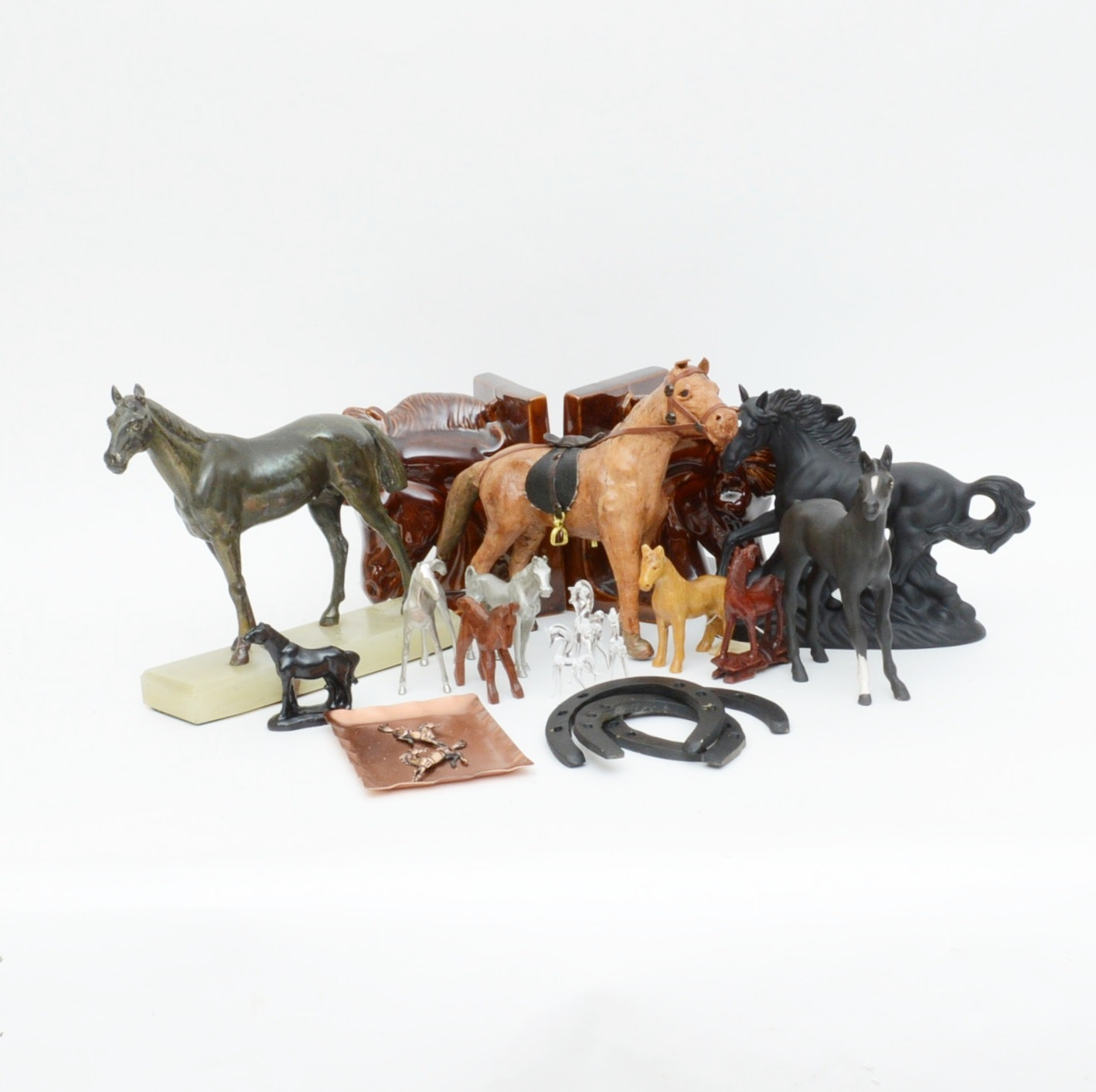 Collection of Horse Figurines and Decor