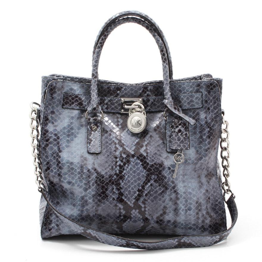 01917ba46c922d Michael Kors Python Embossed Leather Shoulder Bag : EBTH