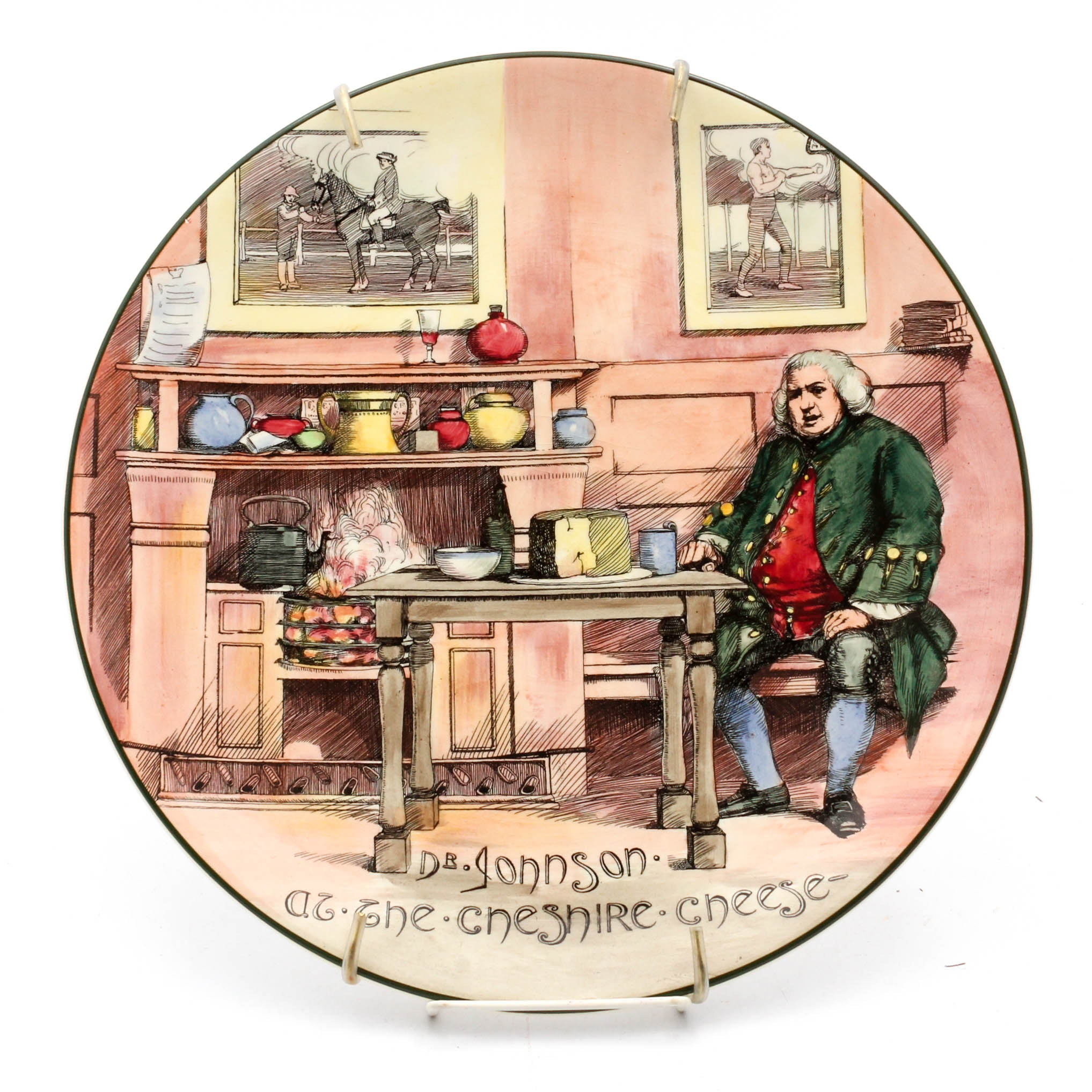 """Royal Doulton Seriesware Charger """"Dr. Johnson at the Chesire Cheese"""""""