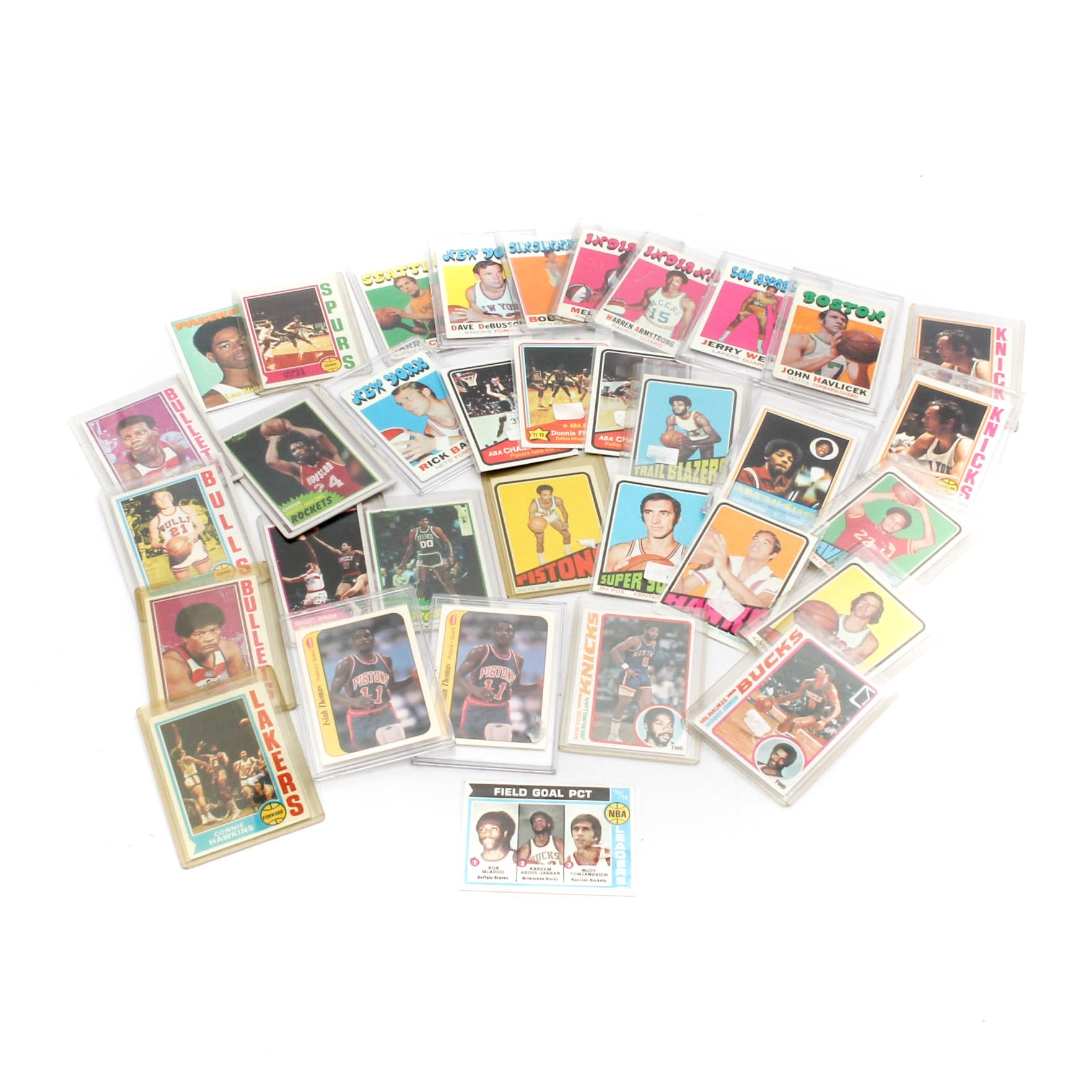 1972-1986 Notable Basketball Trading Cards