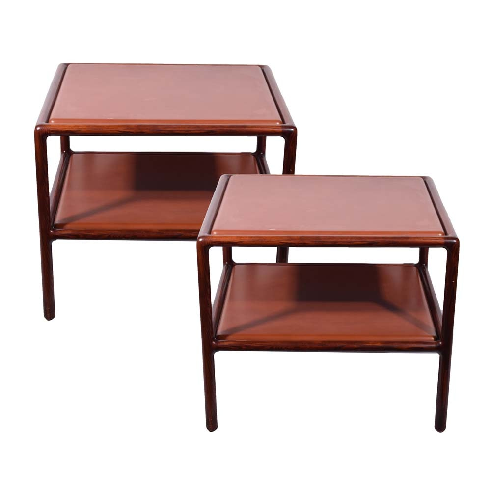 Mid Century Modern Style Ash Side Tables by Ward Bennett for Brickel