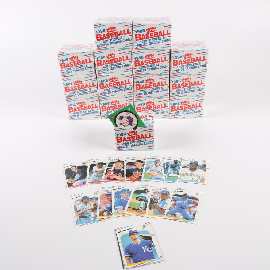 1988 Fleer Boxed Baseball Cards Logo Stickers
