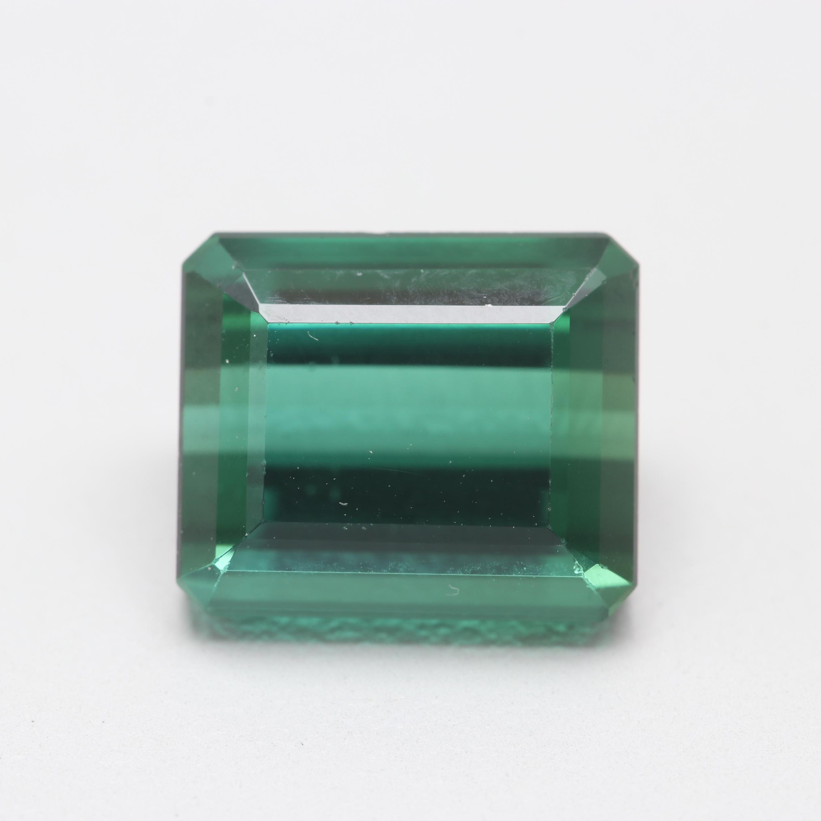 Loose Modified Emerald Cut 5.35 CT Tourmaline with AGL GemBrief