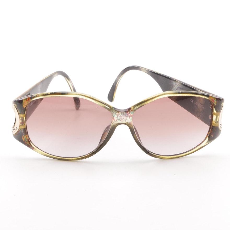 53a7dc9f82 Christian Dior 2759 Peacock Print Sunglasses   EBTH