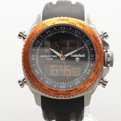 dbb7fe8f08e2 Timberland Stainless Steel Multi-Function Wristwatch
