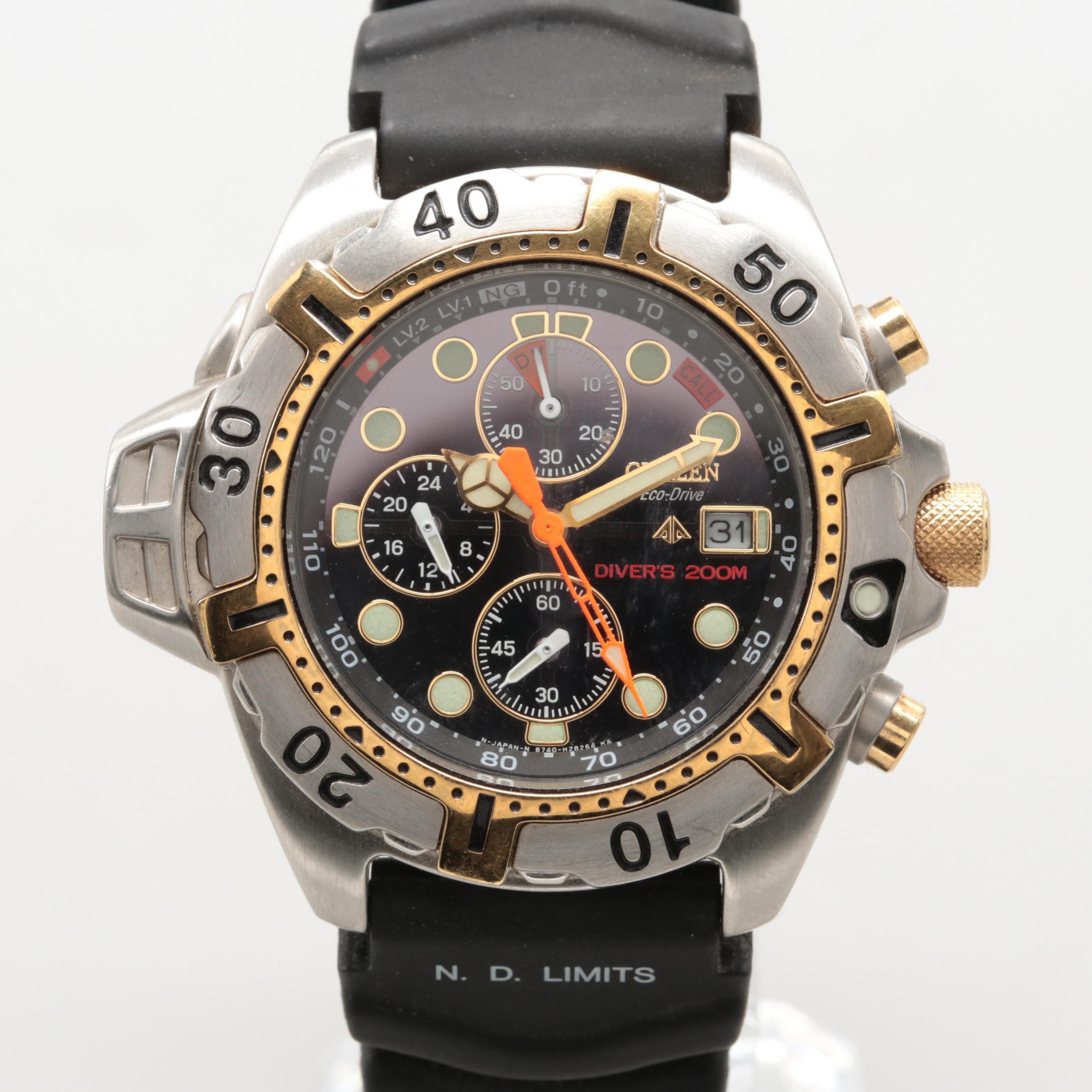 Citizen Eco-Drive Aqualad Chronograph Wristwatch