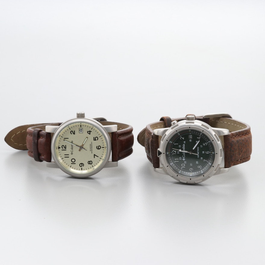 Columbia Model CL-7246 and Model CL-7269 Quartz Wristwatches