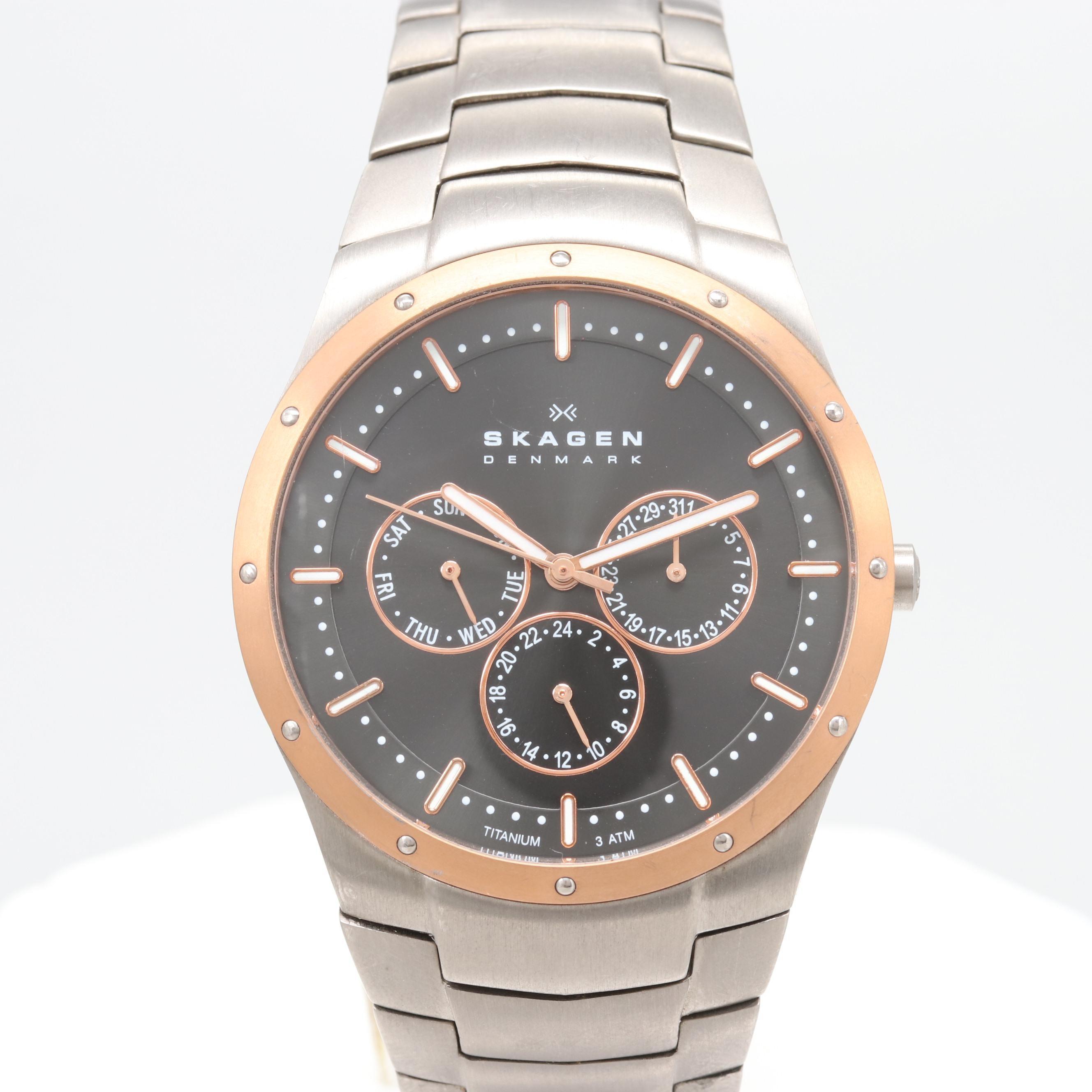 Skagen Multi-function Titanium Quartz Wristwatch