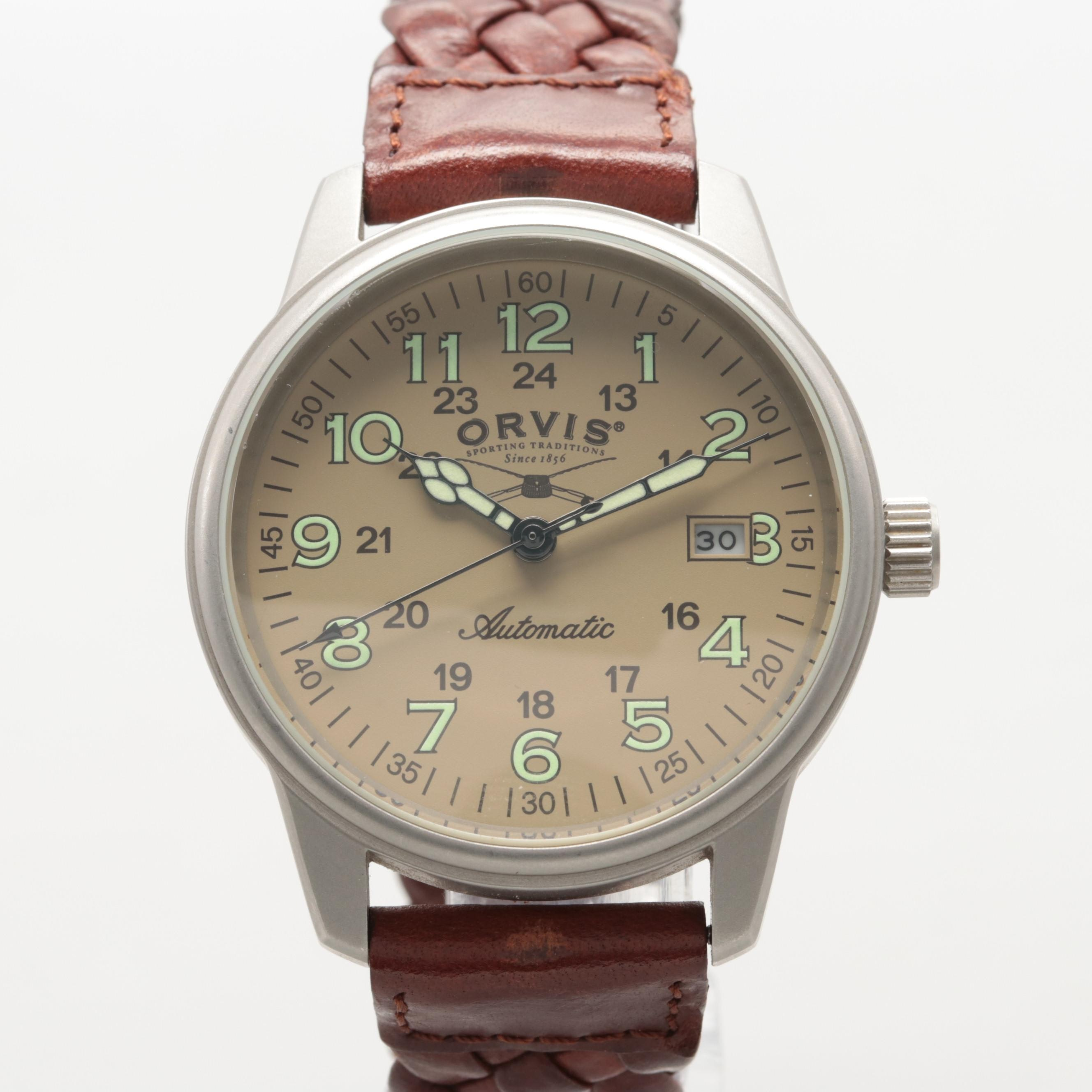 Orvis Stainless Steel Automatic Wristwatch With Date Window
