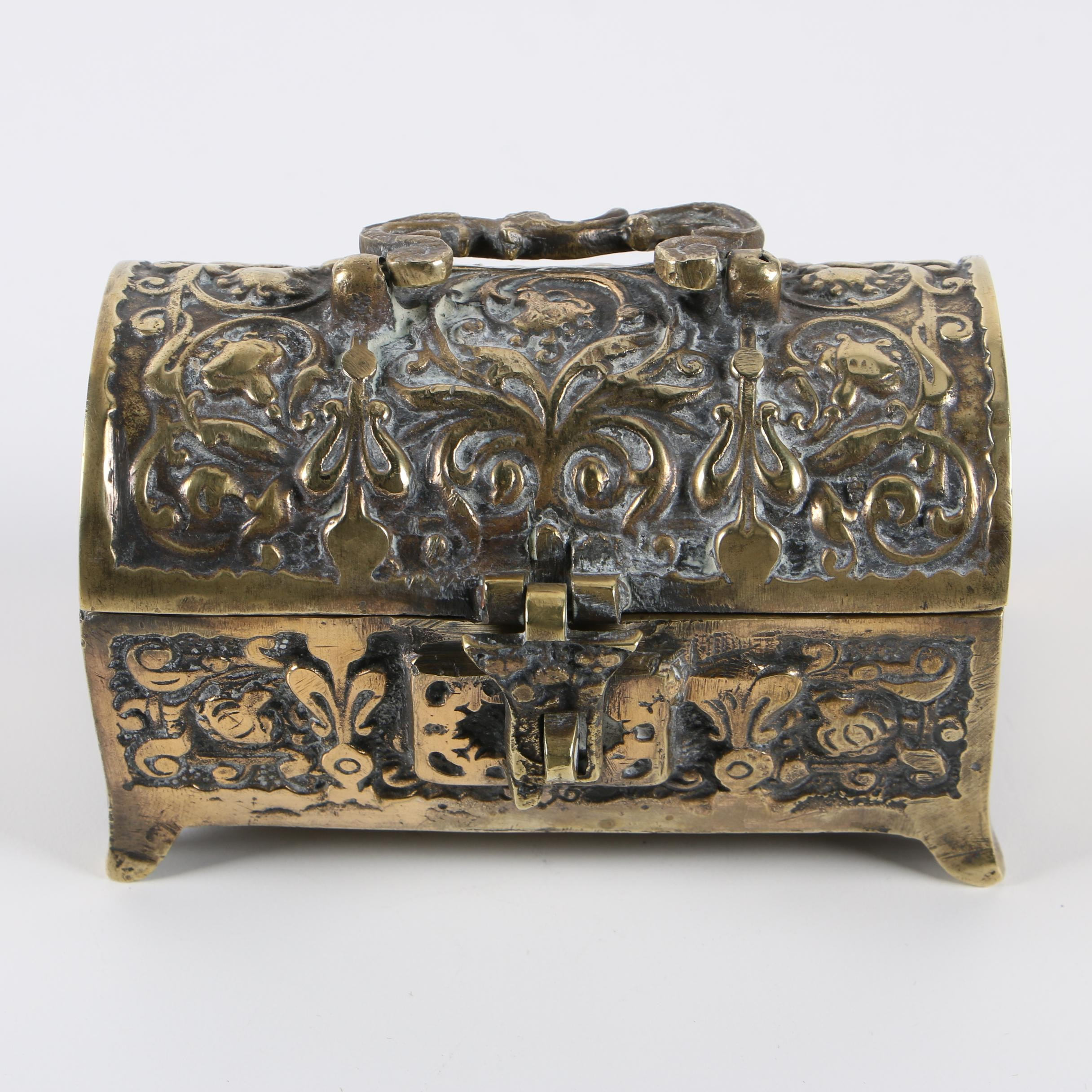 Decorative Cast Brass Curio Box