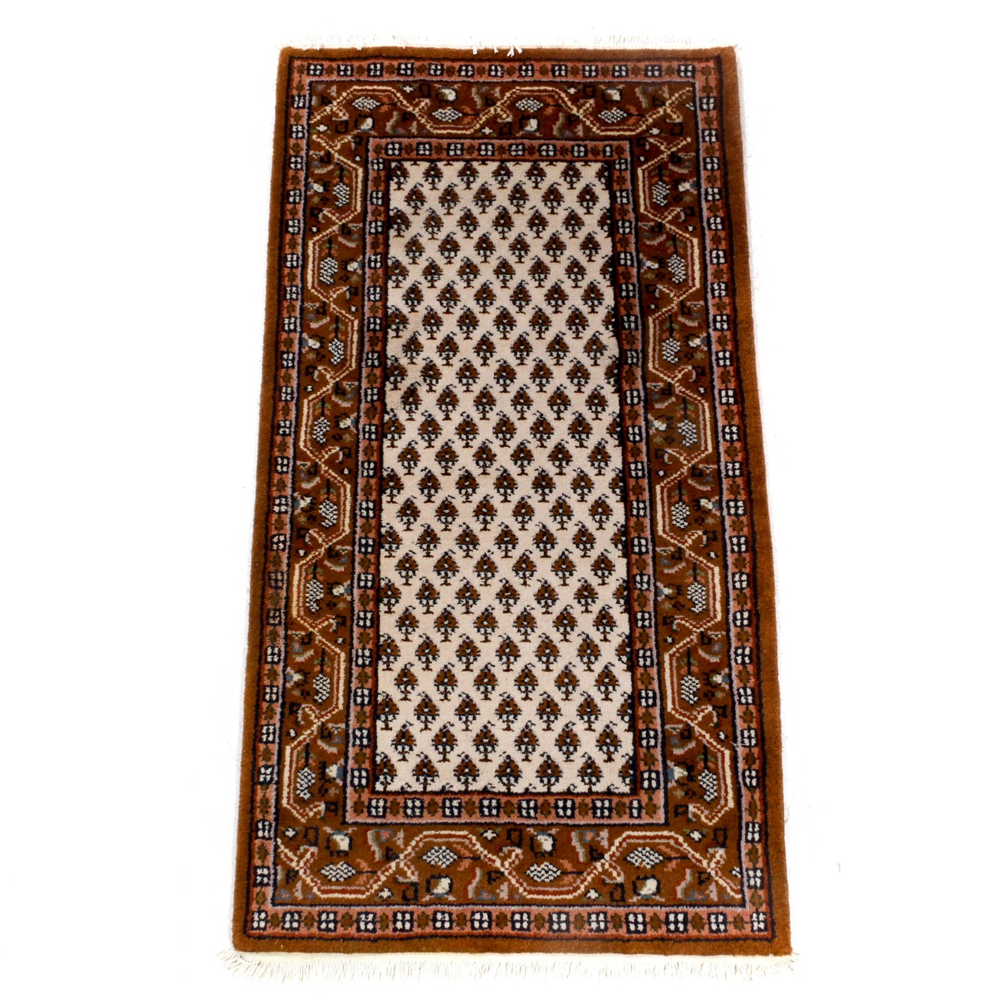 Hand-Knotted Indo-Persian Mir Sarouk Rug